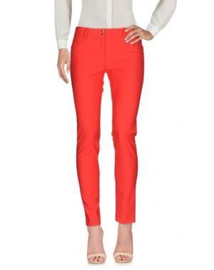 Повседневные брюки ELISABETTA FRANCHI. Цвет: красный