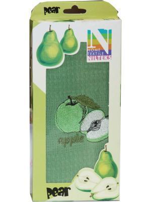 Кухонное полотенце в подарочной коробке ЛЮКС , вафельное 1 шт.40х60 см, 100% хлопок Dorothy's Нome. Цвет: светло-зеленый, темно-бежевый
