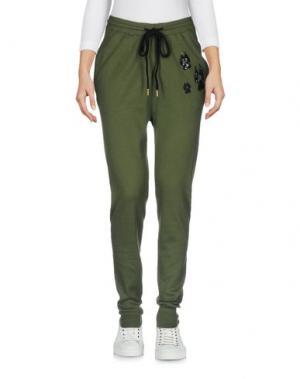 Повседневные брюки MARKUS LUPFER. Цвет: зеленый-милитари