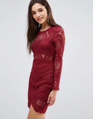 Parisian Кружевное платье. Цвет: красный
