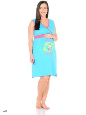 Ночная сорочка Flip. Цвет: светло-голубой