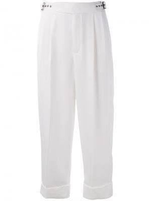 Укороченные брюки с завышенной талией Tom Ford. Цвет: белый