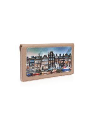 Конверт для путешествий Амстердам2 Eshemoda. Цвет: бежевый