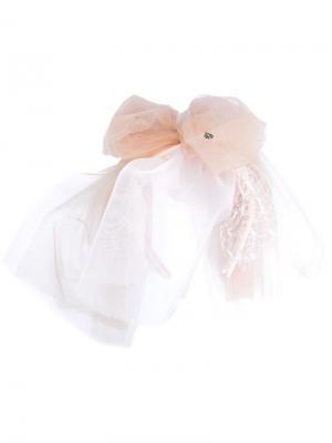Ободок с тюлем Maison Michel. Цвет: розовый и фиолетовый