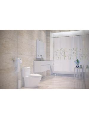 Штора для ванной Prato Bacchetta. Цвет: светло-зеленый, белый