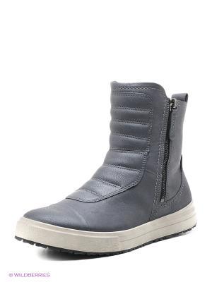 Ботинки ECCO. Цвет: темно-серый, серебристый