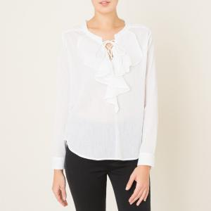 Блузка однотонная THE KOOPLES. Цвет: белый