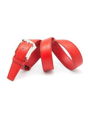 Ремень костюмный Angelo Bonetti. Цвет: красный