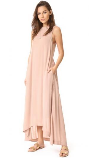 Платье Park Ave Knot Sisters. Цвет: розовый
