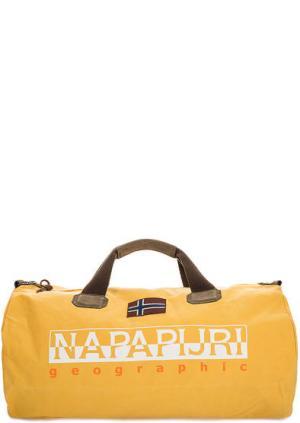 Большая спортивная сумка со съемным плечевым ремнем Napapijri. Цвет: желтый