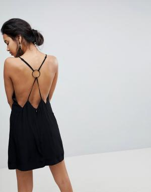 Keepsake Платье мини Two Minds. Цвет: черный