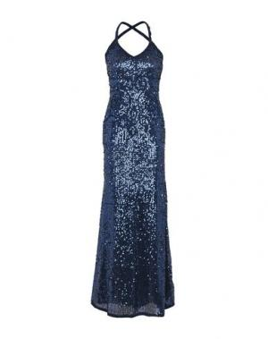 Длинное платье SONIA FORTUNA. Цвет: темно-синий