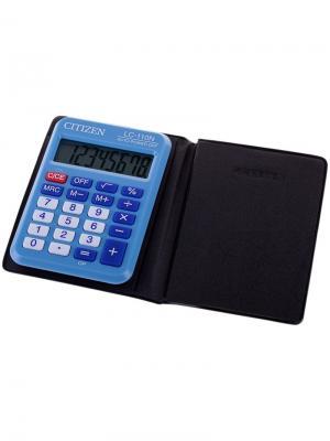 Калькулятор настольный SDC-810BN 10 разрядов, двойное питание, 102*124*25 мм, черный CITIZEN. Цвет: черный