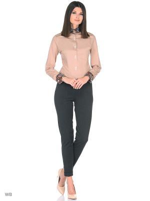 Рубашка женская манжет под запонки WHITE CUFF. Цвет: коричневый