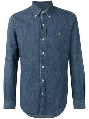 Джинсовая рубашка кроя слим Polo Ralph Lauren. Цвет: синий