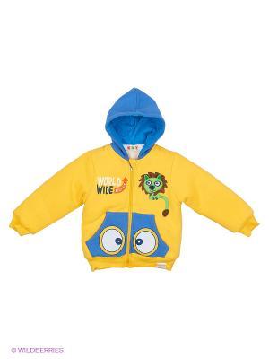 Куртка утеплённая с велсофтом Kidly. Цвет: желтый