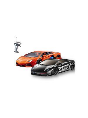 Машина на батарейках, в коробке AULDEY. Цвет: черный, оранжевый