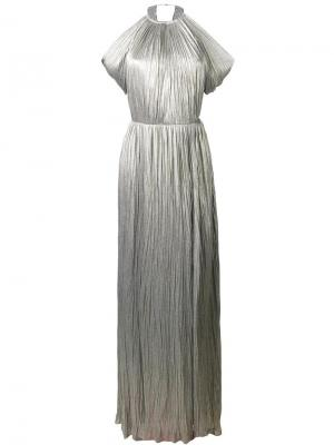 Платье Aman Maria Lucia Hohan. Цвет: металлический