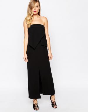 Keepsake Черное платье макси Interval. Цвет: черный