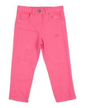Джинсовые брюки SO TWEE by MISS GRANT. Цвет: фуксия