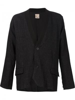 Меланжевый пиджак Jan Van Essche. Цвет: чёрный