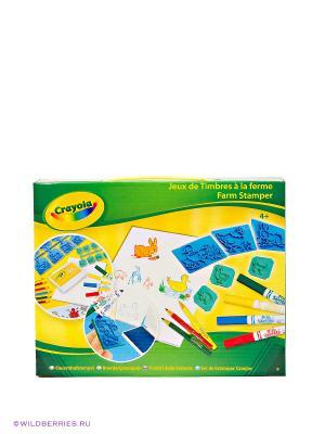 Игровой набор Штампики с животными Crayola. Цвет: голубой