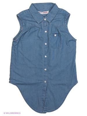 Блузка MINOTI. Цвет: синий