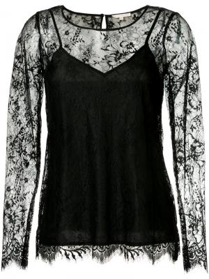 Long-sleeved lace top Gold Hawk. Цвет: чёрный