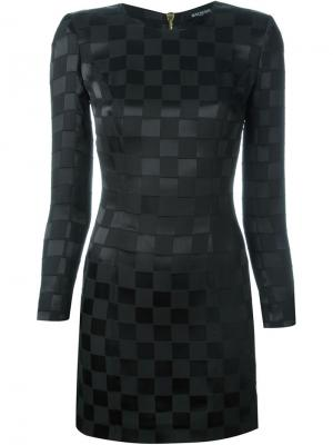 Платье в клетку Balmain. Цвет: чёрный