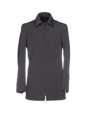 Легкое пальто AQUARAMA. Цвет: темно-коричневый