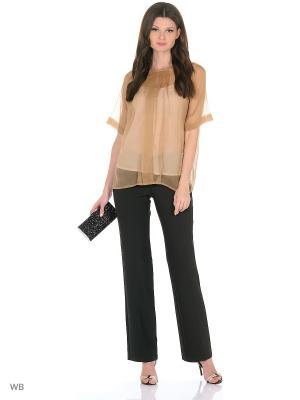 Блуза со складками+майка IMAGO. Цвет: бежевый