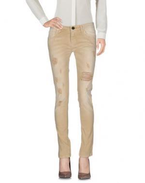 Повседневные брюки MNML COUTURE. Цвет: бежевый