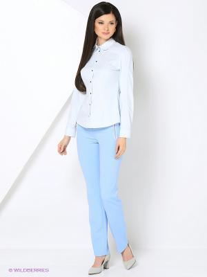 Блузка Ksenia Knyazeva. Цвет: голубой