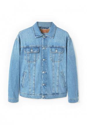 Куртка джинсовая Mango Man. Цвет: голубой