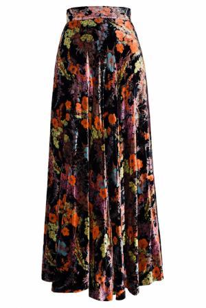 Юбка с принтом (80-е) Emanuel Ungaro Vintage. Цвет: черный, разноцветный