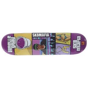 Дека для скейтборда  Gamer Gray 32.12 x 8.25 (21 см) Sk8mafia. Цвет: мультиколор