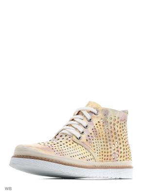 Ботинки DAKKEM. Цвет: золотистый