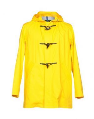Легкое пальто GLOVERALL. Цвет: желтый