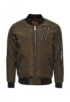 Куртка утепленная Paragoose. Цвет: хаки