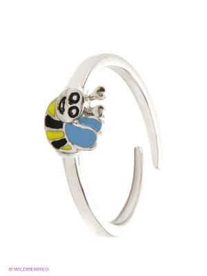 Кольцо BALEX. Цвет: серебристый, желтый, черный, голубой