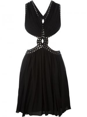Платье с заклепками Jay Ahr. Цвет: чёрный