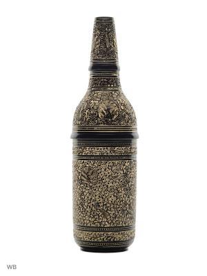 Шкатулка для бутылки латунь черная эмаль ETHNIC CHIC. Цвет: золотистый, черный