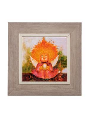 Картина Ангел заветного счастья Artangels. Цвет: оранжевый, красный, серый