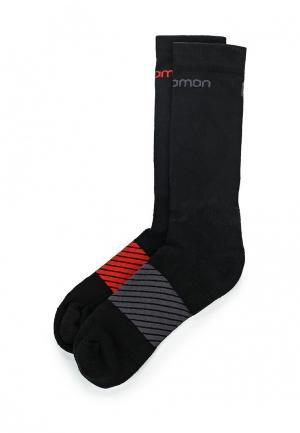 Комплект носков 2 пары Salomon. Цвет: черный