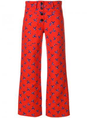 Укороченные брюки с цветочным рисунком Kenzo F761PA1695C212290269