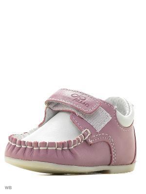 Мокасины ФОМА. Цвет: розовый, сиреневый