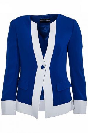 Пиджак Emporio Armani. Цвет: голубой