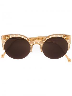 Солнцезащитные очки Lucia Retrosuperfuture. Цвет: жёлтый и оранжевый