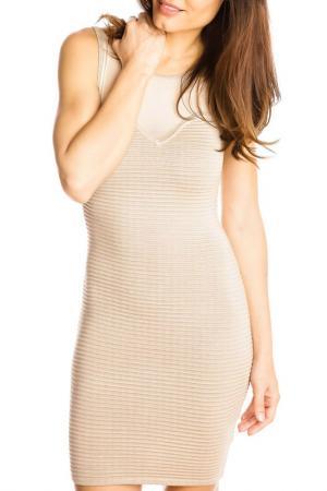 Платье GAZOIL. Цвет: бежевый