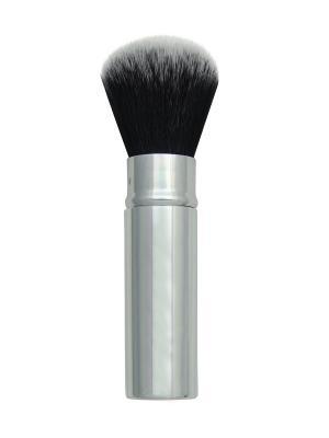 Выдвижная кисть для пудры CHIQUE Retractable Powder. (синтетическая) Royal&Langnickel. Цвет: серебристый